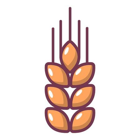 小麦のアイコン。Web デザインのための小麦のベクトルのアイコンの漫画イラスト  イラスト・ベクター素材