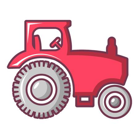 traction engine: Tractor icon. Cartoon illustration of tractor vector icon for web design