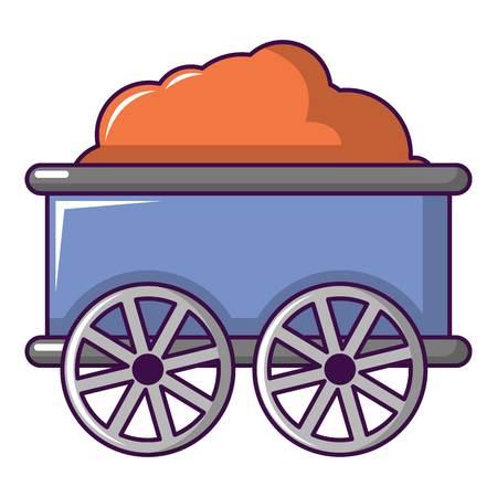 Treinwagon pictogram. Beeldverhaalillustratie van treinwagen vectorpictogram voor Webontwerp