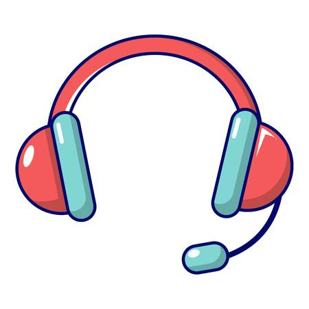 Headset icon. Cartoon illustration of headset vector icon for web design
