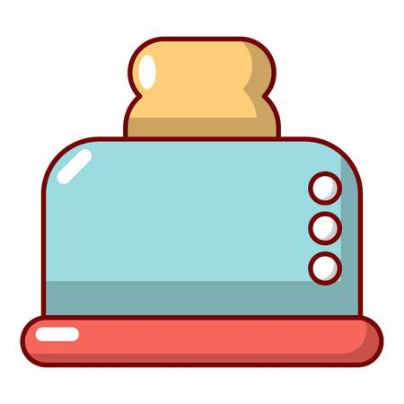 Steal toaster icon. Cartoon illustration of steal toaster vector icon for web design
