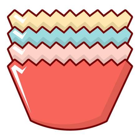 Baking molds icoon. Cartoon illustratie van bakvormen vector icoon voor web design