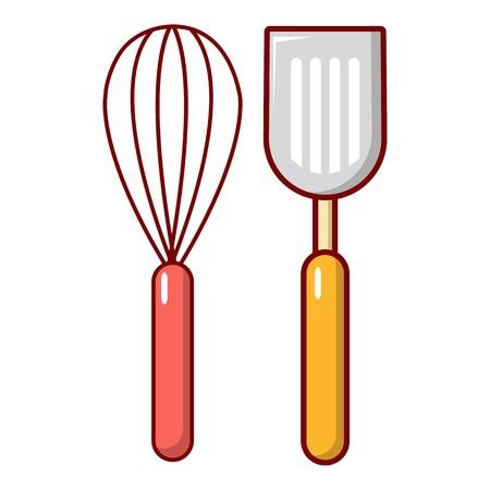 Cutlery bake icon. Cartoon illustration of cutlery bake vector icon for web design