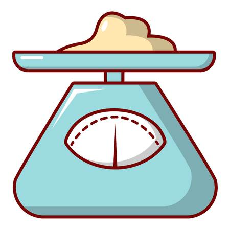 Kitchen scales icon. Cartoon illustration of kitchen scales vector icon for web design