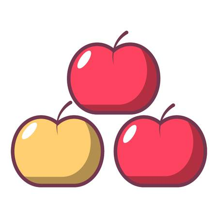 Apples icon. Cartoon illustration of apples vector icon for web design