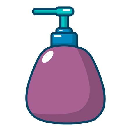 Dispenser pump cosmetic icon. Cartoon illustration of dispenser pump cosmetic vector icon for web design