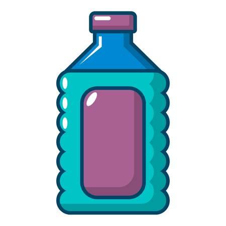 Plastic soap bottle icon. Cartoon illustration of plastic soap bottle vector icon for web design