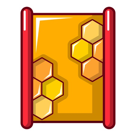 contemporary taste: Honeycombs icon. Cartoon illustration of honeycombs vector icon for web design Illustration