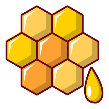 contemporary taste: Honey comb icon. Cartoon illustration of honey comb vector icon for web design