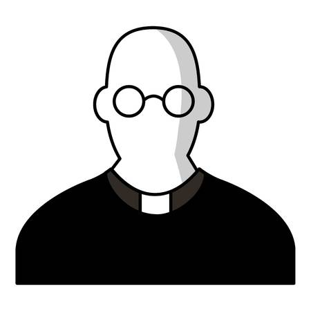 Priest icon. Cartoon illustration of priest vector icon for web design