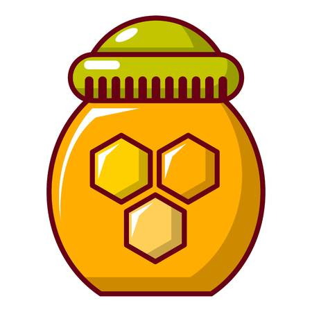 contemporary taste: Honey pot icon. Cartoon illustration of honey pot vector icon for web design