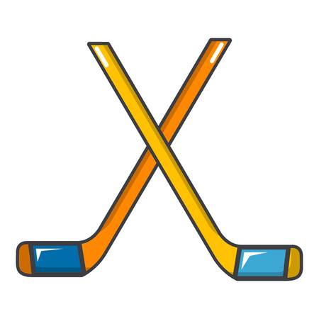 Ice hockey sticks icon. Cartoon illustration of ice hockey sticks vector icon for web design