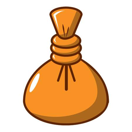 Herbal massage pouch icon. Cartoon illustration of herbal massage pouch vector icon for web design Illustration