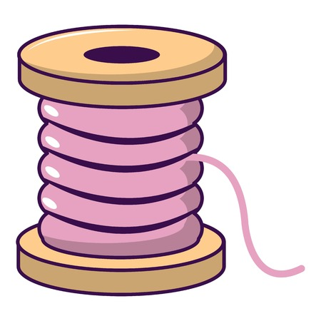 Spool of thread icon. Cartoon illustration of spool of thread vector icon for web design