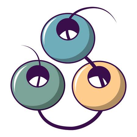 Beads on a string icon. Cartoon illustration of beads on a string vector icon for web design