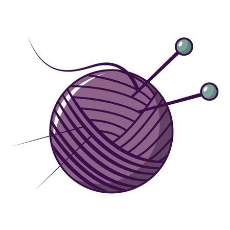 icône de balle de fil . illustration de bande dessinée de vecteur de fil icône de couleur pour la conception web