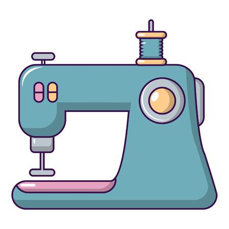 Sewing machine icon. Cartoon illustration of sewing machine vector icon for web design
