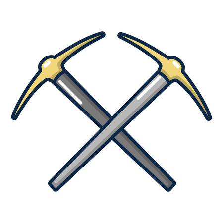 excavation: Pick axe tool icon. Cartoon illustration of pick axe tool vector icon for web design