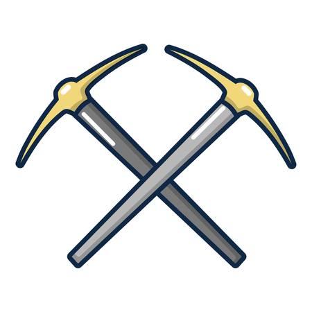 Pick axe tool icon. Cartoon illustration of pick axe tool vector icon for web design