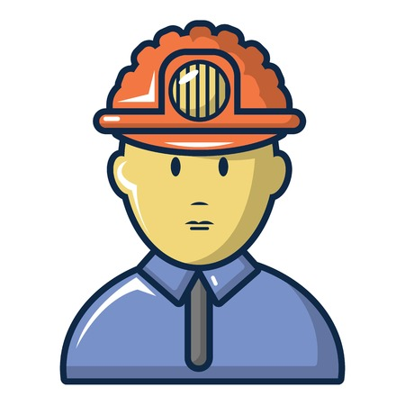 Male miner icon. Cartoon illustration of male miner vector icon for web design Illustration