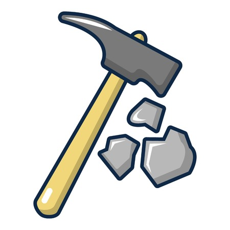 Pick tool icon. Cartoon illustration of pick tool vector icon for web design