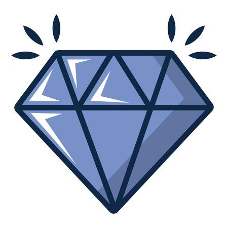 Crystal icon. Cartoon illustration of crystal vector icon for web design Ilustração