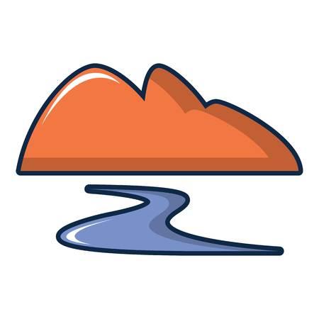 Coal dump icon. Cartoon illustration of coal dump vector icon for web design