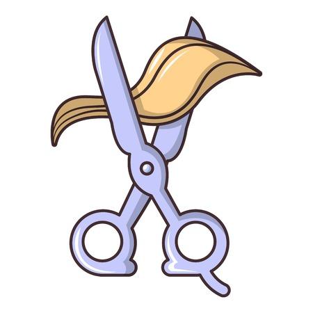 barber: Scissors icon. Cartoon illustration of scissors vector icon for web design
