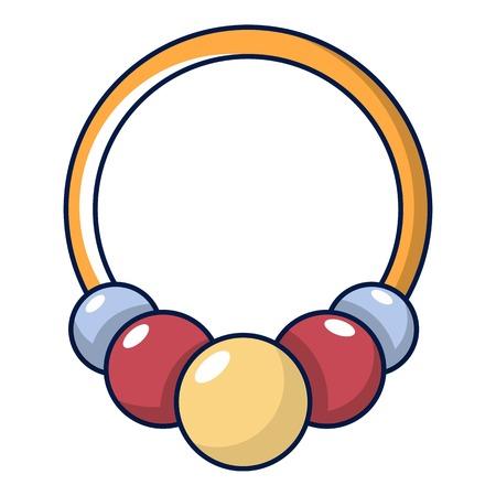 Bracelet with beads icon, cartoon style
