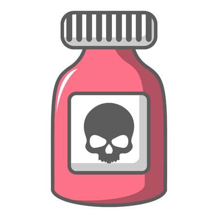 poison: Poison bottle icon, cartoon style