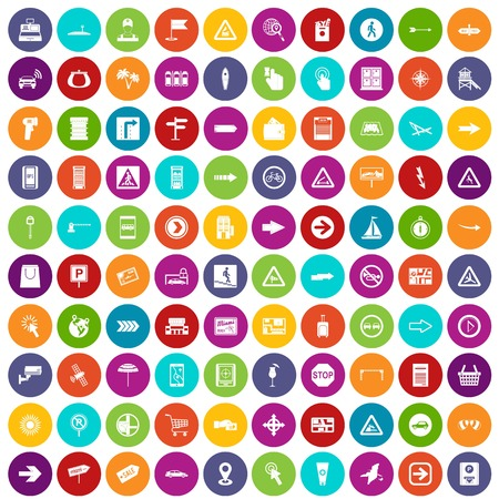 100 pointers icons set color