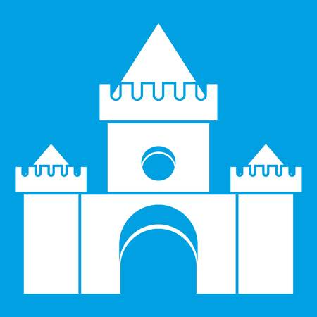 Fairytale castle icon white