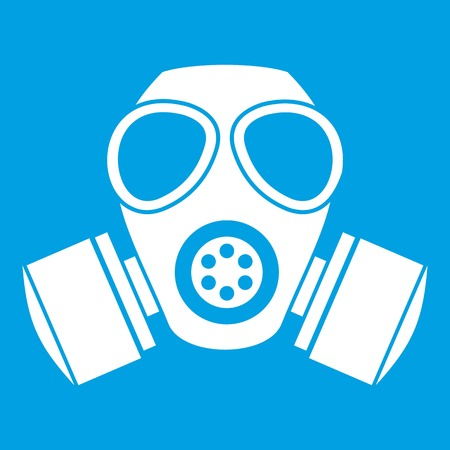 Chemical gas mask icon white