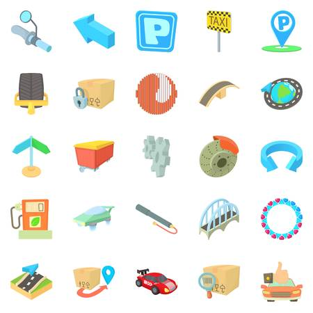 Repair service icons set, cartoon style