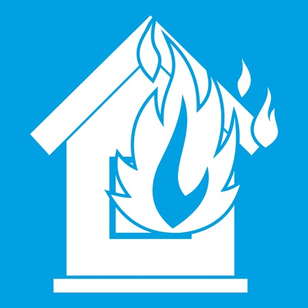 Preventing fire icon white