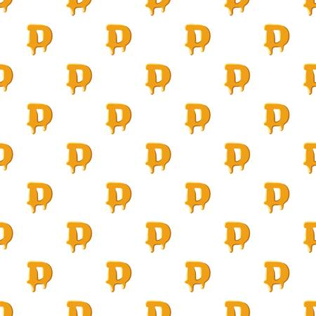 Letter D from honey pattern Illustration