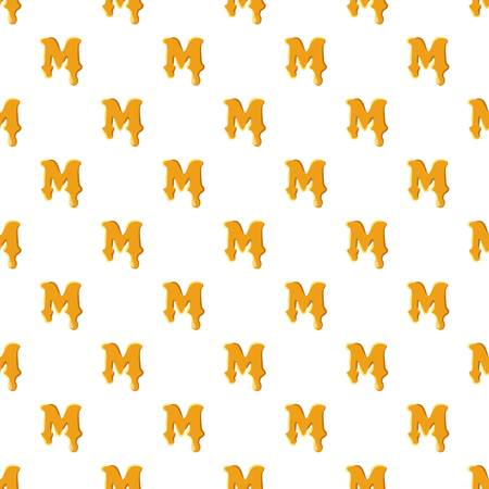 Letter M from honey pattern