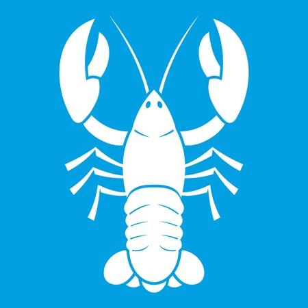 crawfish: Crawfish icon white Illustration