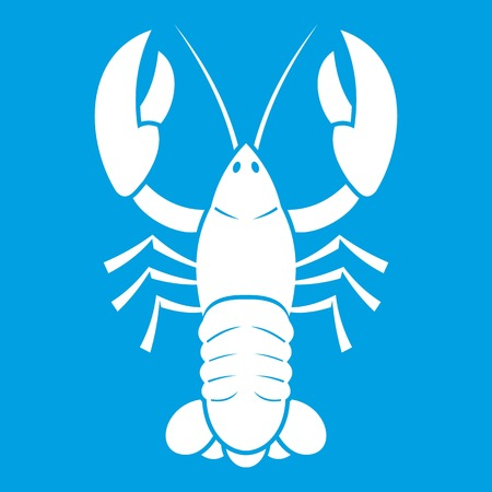 Crawfish icon white Illustration