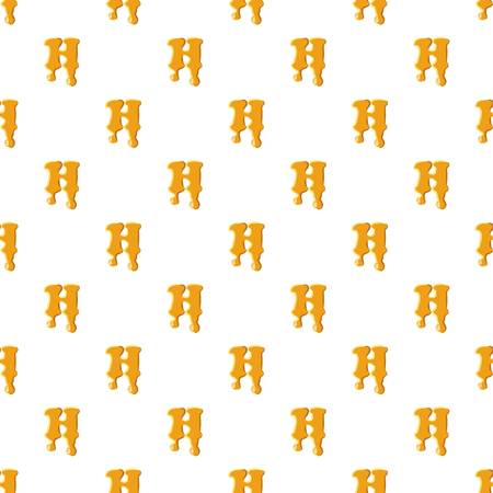 Letter H from honey pattern Illustration