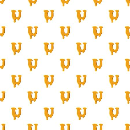 Letter U from honey pattern