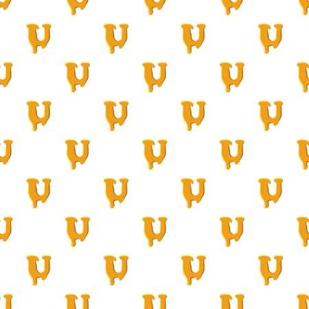 Letter U from honey pattern