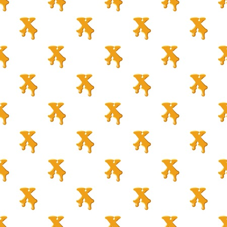Letter X from honey pattern seamless repeat in cartoon style vector illustration
