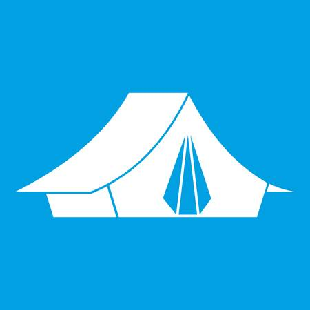 Camping tent icon white
