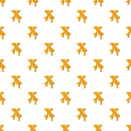 Letter X from honey pattern