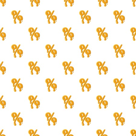 Percentage from honey pattern seamless repeat in cartoon style vector illustration