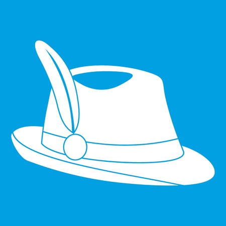clothe: Irish hat icon white Illustration