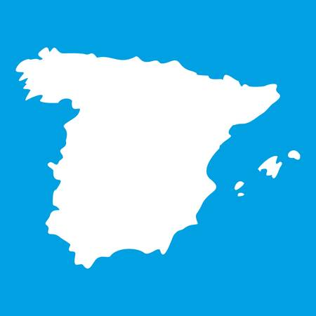 Map of Spain icon Illustration