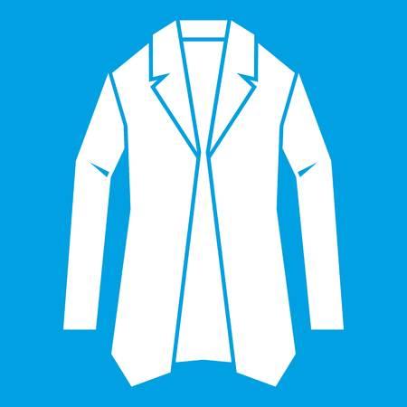 A Jacket icon white illustration.