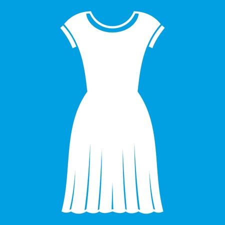 Woman dress icon white illustration.